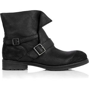 Ash Reverso black Leather Ankle Moto boots
